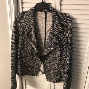 Express black and white jacket